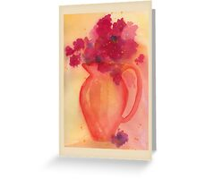 Bouquet in Pitcher Greeting Card