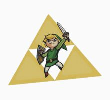 Link with Triforce by nakeciawinona