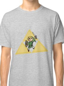 Link with Triforce Classic T-Shirt