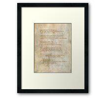 I shall quietly abide Framed Print
