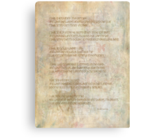 I shall quietly abide Canvas Print