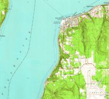 USGS Topo Map Washington State WA Mukilteo 242764 1953 24000 Sticker