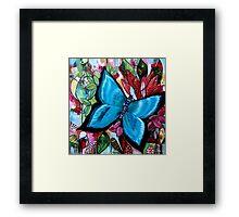 'Blue Butterfly' Framed Print