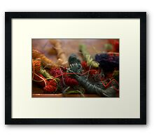 Weaver's Yarn Framed Print