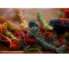 Weaver's Yarn Photographic Print