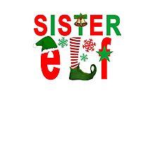 sister elf christmas Photographic Print