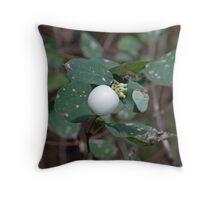 Snowberry shrub Throw Pillow