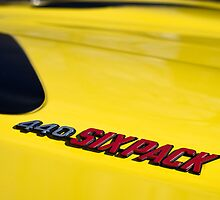 Yellow six pack 'cuda by Norman Repacholi