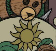 Teddy Bear And Bunny - Jealous Sticker