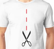 CUT ALONG THE DOTTED LINE  Unisex T-Shirt