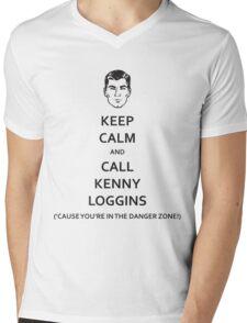 Danger Zone! (Black Fill) Mens V-Neck T-Shirt