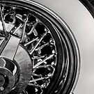 White walls and chromed spokes by Norman Repacholi