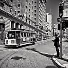 One way waiting - San Francisco by Norman Repacholi