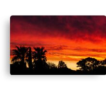front yard sunset Canvas Print