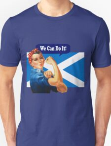 Rosie the Riveter for Scottish Independence T-Shirt Unisex T-Shirt