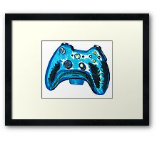 Blue Xbox Controller Framed Print