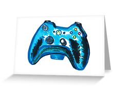 Blue Xbox Controller Greeting Card