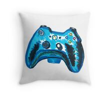 Blue Xbox Controller Throw Pillow