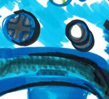 Blue Xbox Controller Sticker