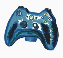 Blue Xbox Controller One Piece - Short Sleeve