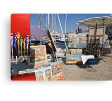 St Tropez quay Side Canvas Print