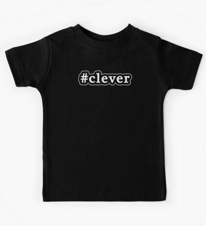 Clever - Hashtag - Black & White Kids Tee