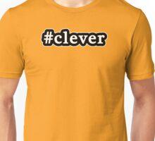 Clever - Hashtag - Black & White Unisex T-Shirt