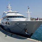 Super yacht St Tropez by Jim Hellier