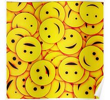Piles and piles of smiles Poster
