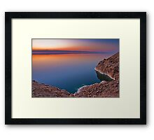 Dead Sea Sunset Framed Print