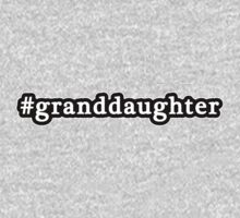 Granddaughter - Hashtag - Black & White One Piece - Long Sleeve