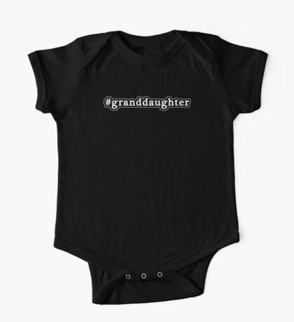 Granddaughter - Hashtag - Black & White One Piece - Short Sleeve