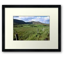 green fields of ireland Framed Print