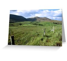 green fields of ireland Greeting Card