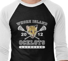 Go Ocelots! (White Fill) Men's Baseball ¾ T-Shirt