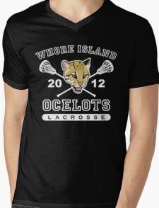Go Ocelots! (White Fill) Mens V-Neck T-Shirt