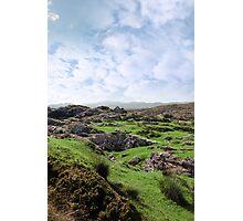 ruin in irish rocky landscape Photographic Print