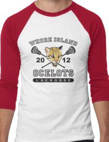 Go Ocelots! (Black Fill) Men's Baseball ¾ T-Shirt