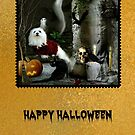 Snowdrop the Maltese Halloween Card 2 by Morag Bates