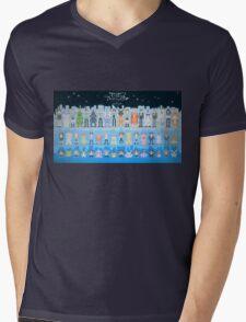 Digimon Adventure Tri. pixel style (Ending) Mens V-Neck T-Shirt
