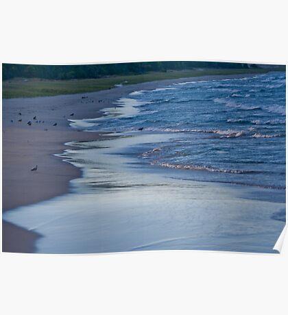 Surfing Lake Michigan 03 Poster