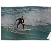 Surfing Lake Michigan Poster