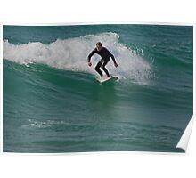 Surfing Lake Michigan 12 Poster