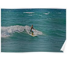 Surfing Lake Michigan 16 Poster