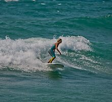 Surfing Lake Michigan 17 by Cary Marks