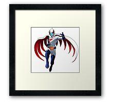 Anime superhero Framed Print