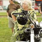 woman and a motorcycle by mrivserg