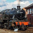 Locomotive Stanier Mogul 42968 leaving Kidderminster by John Evans