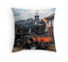 Locomotive Stanier Mogul 42968 leaving Kidderminster Throw Pillow