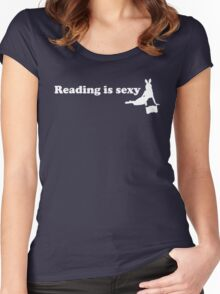 Reading is sexy Women's Fitted Scoop T-Shirt